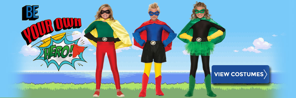Be your own superhero with our Custom Superhero Costumes
