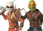 Boys Star Wars And Ninja Turtle Costumes