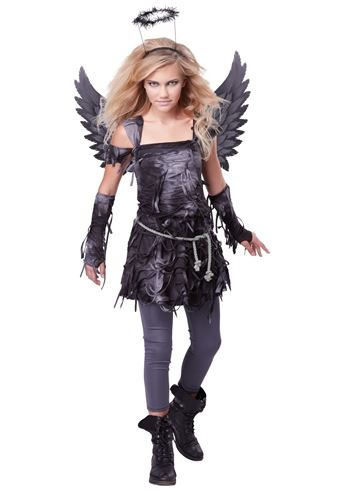 Click here to view Large Image  sc 1 st  The Costume Land & Adult Spooky Angel Tween Girl Costume | $48.99 | The Costume Land
