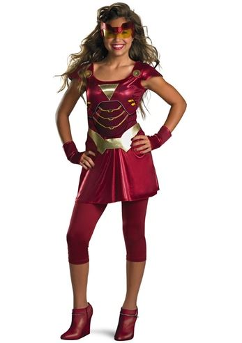 Tween Ironman Girl Costume
