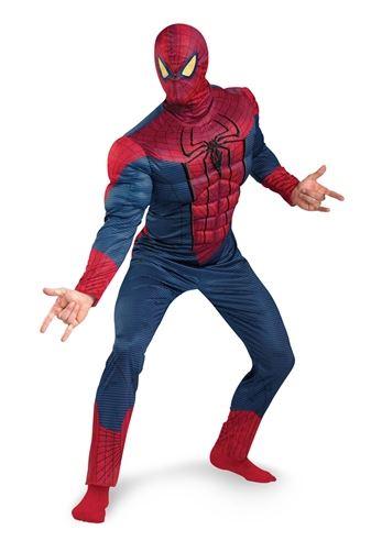 Spider Man Halloween Costume Adults.Adult Amazing Spider Man Costume