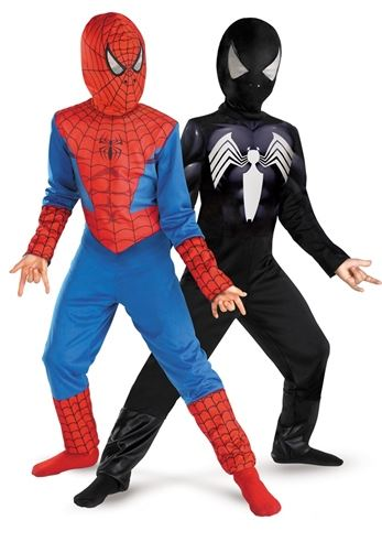 Reversible Spiderman Costume Boys