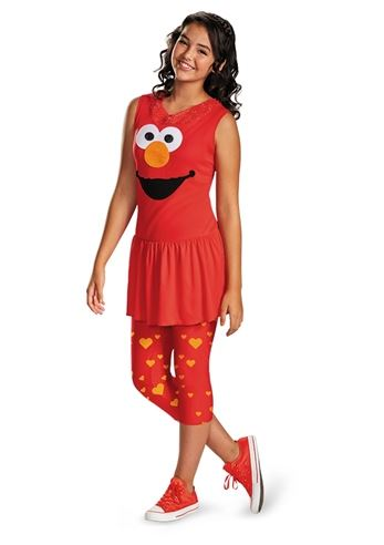 kids sesame street elmo classic girls tween costume the costume land