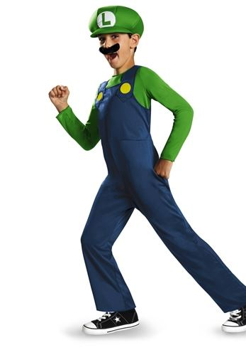 Click here to view Large Image  sc 1 st  The Costume Land & Kids Super Mario Luigi Classic Boys Costume | $15.29 | The Costume Land