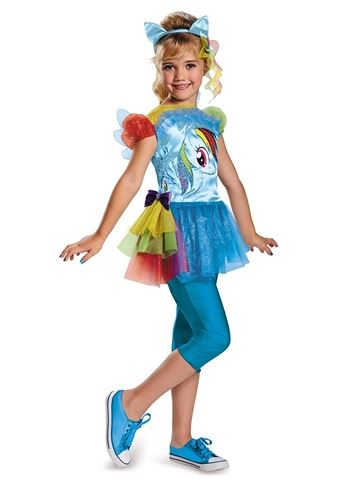 sc 1 st  The Costume Land & Kids Rainbow Dash Girls Costume | $27.99 | The Costume Land