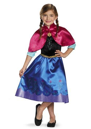Kids Anna Disney Princess Girls Frozen Costume  sc 1 st  The Costume Land & Kids Anna Disney Princess Girls Frozen Costume | $20.99 | The ...