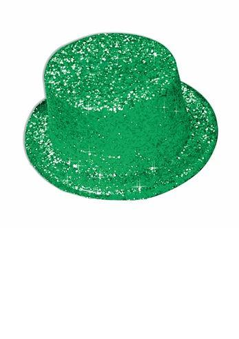 Adult Glitter Top Hat Green  734a8684620