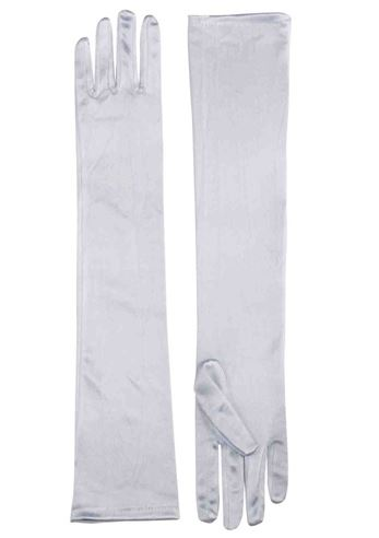 Click here to view Large Image  sc 1 st  The Costume Land & Adult Gloves Long Satin White | $9.99 | The Costume Land