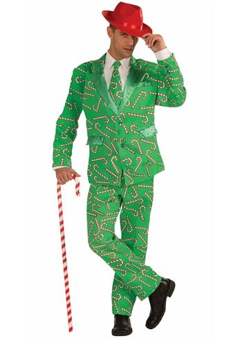 Click here to view Large Image  sc 1 st  The Costume Land & Adult Candy Cane Men Tuxedo Christmas Costume | $45.99 | The Costume ...