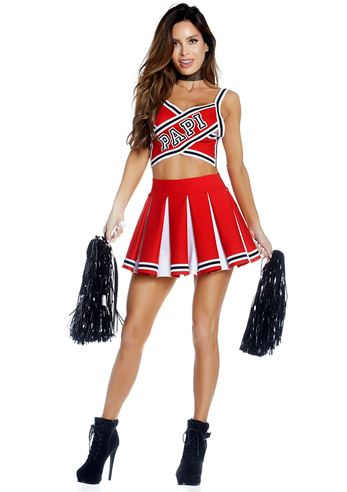 Adult Papi Cheerleader Woman Costume 82 99 The