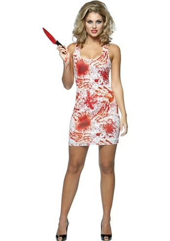2eef157749833 Adult Bloody Tank Women Zombie Costume