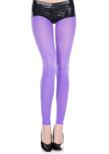 46668e41787a3 Adult Opaque Footless Tights Purple | $5.99 | The Costume Land