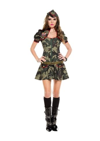 97a04f18ab943 Adult Army Brat Woman Costume | $37.99 | The Costume Land
