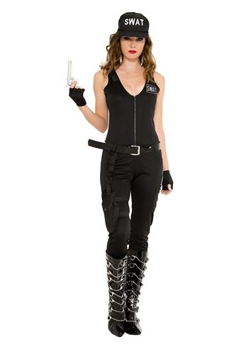 Adult Swat Babe Woman Costume | $51.99 | The Costume Land