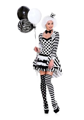 Adult Circus Damned Woman Clown Costume  sc 1 st  The Costume Land & Adult Circus Damned Woman Clown Costume | $43.99 | The Costume Land