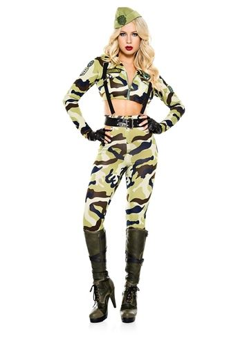 adult commando soldier woman army costume 5599 the costume land - Halloween Army Costume
