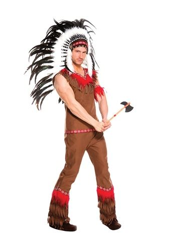 Adult Indian Chief Men Costume  sc 1 st  The Costume Land & Adult Indian Chief Men Costume | $34.99 | The Costume Land