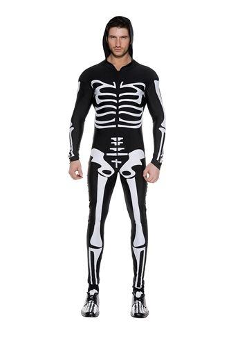 Details about Skeleton Bodysuit Men Costume New Scary Horror Adult Man