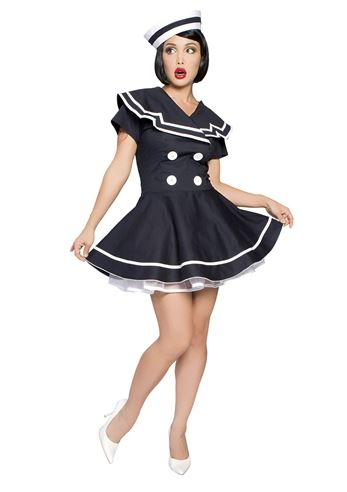 adult pinup captain women sailor costume 6499 the costume land - Sailors Halloween Costumes
