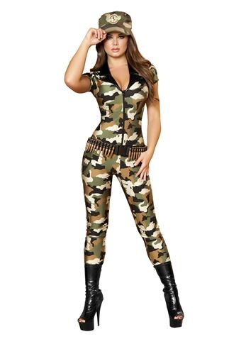 adult camo cutie women army costume - Halloween Army Costume
