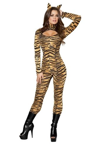 adult sassy tigress women deluxe costume 5799 the costume land - Tigress Halloween Costume