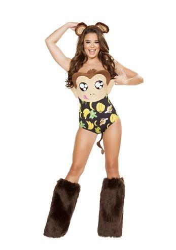 sc 1 st  The Costume Land & Adult Banana Loving Monkey Woman Costume | $68.99 | The Costume Land