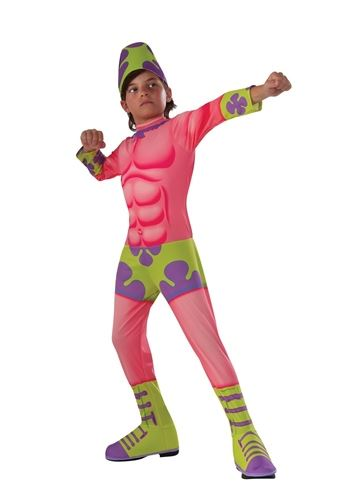 Click here to view Large Image  sc 1 st  The Costume Land & Kids Patrick Superawesomeness Spongebob Boys Costume | $23.99 | The ...