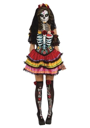 Adult Day Of The Dead Seniora Woman Costume | $52.99 | The ...