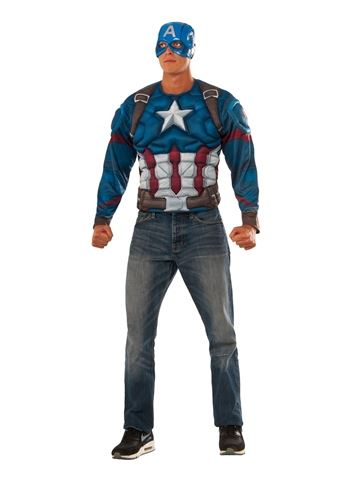 Click here to view Large Image  sc 1 st  The Costume Land & Adult Captain America Muscle Chest Top Costume | $47.99 | The ...