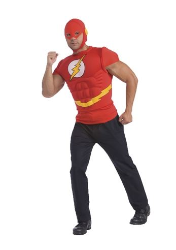 adult the flash muscle chest men t shirt costume 3199 the costume land - Halloween Muscle
