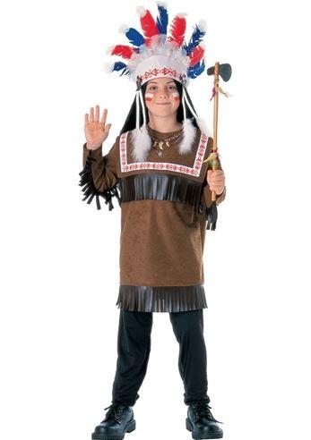 kids cherokee warrior boys native american costume - Halloween Native American Costumes
