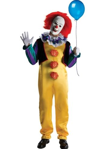 Halloween Movie Costumes celebrities in halloween costumes It The Movie Deluxe Pennywise Adult Halloween Costume 5199 The Costume Land