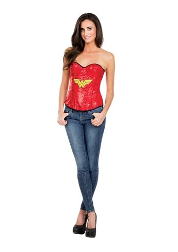 Click here to view Large Image  sc 1 st  The Costume Land & Adult Wonder Woman Sequin Corset Woman Costume | $24.99 | The ...