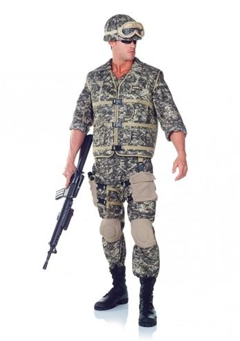 brand new army ranger deluxe men halloween costume by underwraps costumes image 1