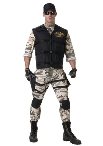 brand new classic seal team men army halloween costume by underwraps costumes image 1
