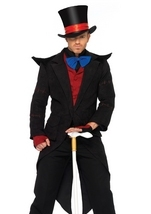 Deluxe Mens Velvet Top Hat