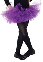 Organza Kids Tutu Purple