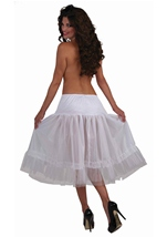Crinoline Tea Length White