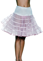 Women Mid Length Petticoat Skirt