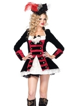 Charming Pirate Captain Woman Costume