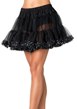 Women Petticoat Sequin Trim
