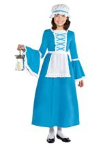 American Colonial Girls Deluxe Costume