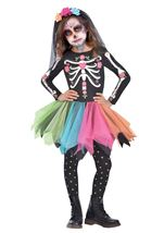 Sugar Skull Girls Skeleton Costume