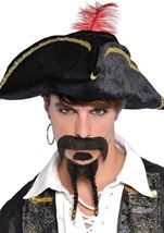 Pirate Goatee And Mustache Set