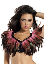 Bubblegum Pink Feather Top Womens Costume