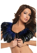 Blue Feather Top Womens Costume