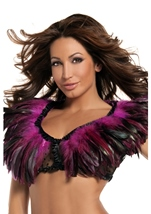 Hot Pink Feather Top Womens Costume