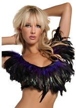 Purple Feather Top Womens Costume