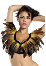 Yellow Feather Top Womens Costume