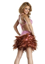 Red Feather Dress Womens Halloween Costume